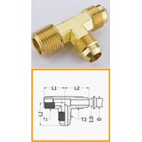 China Industrial Male Hose Barb Brass Pipe Fitting , T - Shape Lead Free Brass Flare Fittings on sale