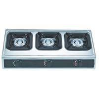 Table Top 3 Burner Natural Gas Hob Gas Stove In Casting Honeycomb Burner For Kitchen Manufactures