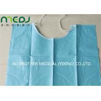 Neck Notch Dental Patient Apron Medical Disposable Paper And PE Bib With Tie On Manufactures