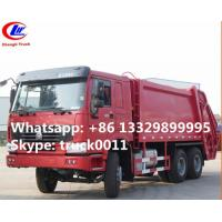 factory sale best price SINO TRUK HOWO 6*4 garbage compactor truck for sale, HOWO 16cbm compacted garbage truck for sale Manufactures