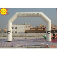 Customized Advertising White Inflatable Start Finish Arch For Racing Finish Line Manufactures