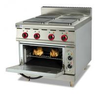 Commercial Stainless Steel Electric 4 / 6 Head Hot Plate Cooker With Oven ZH-TE-4 Manufactures