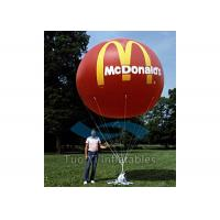 Outdoor Colorful Inflating Helium Balloons 0.25mm PVC Branded Baloons Manufactures