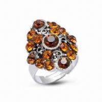 Ring, Made of 925 Sterling Silver, Decorated with CZ Stone Manufactures