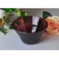 OEM 472ml Capacity Bubble Glass Bowl For Scented Candle , Mouth Blown Manufactures
