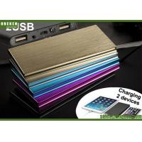 6000mAh Ultra Slim Power Bank Dual USB Output With LED Flash Light Manufactures
