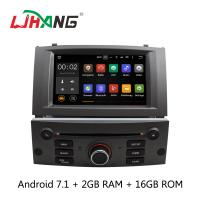 Android 7.1 7 Inch Peugeot DVD Player PX3  4Core With AUX-IN Map GPS Manufactures