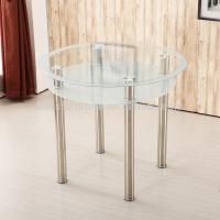 China Stylish Round Glass Coffee Table For Hotel / Restaurant / Banquet on sale