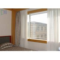 Quality Manual Aluminium Louvre Windows Sun Shading Louvre Soundproof / Heat Insulation for sale