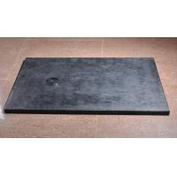 Quality Stone Effect Polymarble Shower Bases , Black Shower Trays CE SGS Certification for sale