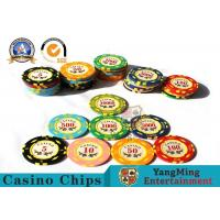 Buy cheap 11.8g Colorful Casino Poker Chips And Cards / Custom Plaque Stickers from wholesalers