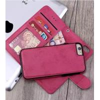 Vintage Iphone7 Plus 2 In 1 Wallet Case Three Credit Card Slot 16.8 * 8.4 * 1.9cm