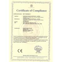 Shenzhen Qinhan Lighting Co., Limited Certifications