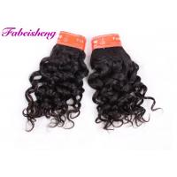 Double Drawn Indian Virgin Human Hair Extensions / Italian Curly Hair Weave Manufactures