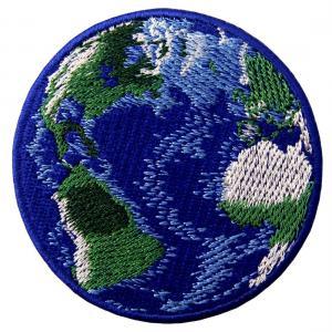 Planet Design Custom Cloth Badges Sew on Backing Soft Enamel Color Manufactures