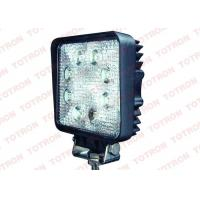 Square 24W LED Truck Work Lights12V ATV Lights with Stainless Steel Bracket PC Lens Manufactures