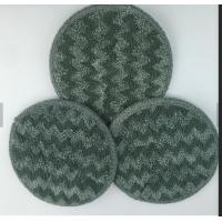 Buy cheap Gray Twisted Round Microfiber Wet Mop Pads 10mm Sponge 260gsm Self - Adhensive Wet Mop Pads from wholesalers