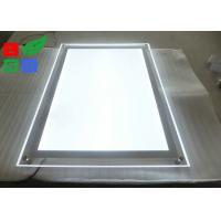 Quality Indoor Wall Mounting Crystal Light Box Stand Thickness 8mm Acrylic Frame Sign for sale