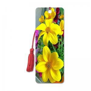 Flower Design Souvenir 3D Lenticular Bookmark / 3D Lenticular Printing Manufactures