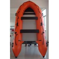 Quality Marine Aluminum Floor Inflatable Rescue Boat Orange For 6 Person for sale