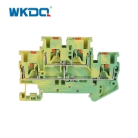 Buy cheap Easily Inserted Electrical Terminal Block Yellow and Green Durable Wire from wholesalers