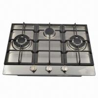 S.S Gas Stove, Built-in Hob with 3 Burners Manufactures
