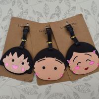 Buy cheap Guangdong factory high quality soft pvc plastic standard size luggage tags from wholesalers