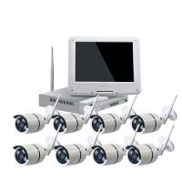 China wireless nvr security system hd nvr kit cctv home security ip camera 8CH WIFI NVR Kit with 10 inch Monitor on sale