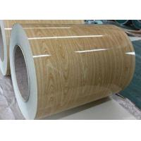 China Wooden Pre Painted Galvanized Sheet , Hot Rolled Steel Coil For Construction on sale