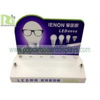 acrylic /plastic counter display for LED light with plug base for tester Manufactures