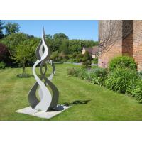 Swirl Abstract Metal Art Sculptures , Big Metal Sculptures For Home Decoration         Manufactures