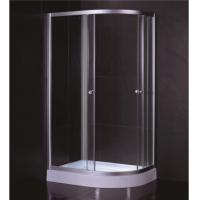 Oval Shape 1000 X 800 Quadrant Shower Enclosures And Tray With Low Resin Tray Manufactures