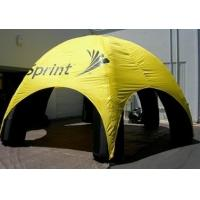Yellow Inflatable Party Tent Advertising , Durable PVC Event Dome Air Inflatable Tent Manufactures