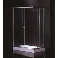 Free Standing 1200 X 800 Rectangular Shower Enclosure With Tray Center Drain Manufactures