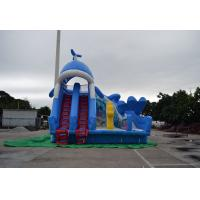 Customized Durable Giant Inflatable Slide Material PVC And Tarpaulin With Fireproof Manufactures