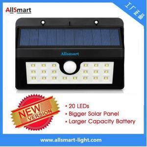 20LED 440lumens 4W motion sensor solar wall light with mounting bracket triangular shape Li-ion battery solar lamp Manufactures