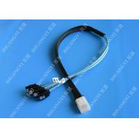Flexible SAS To 4x SATA Forward Breakout Cable 3.3 Feet 30 AWG Style Manufactures
