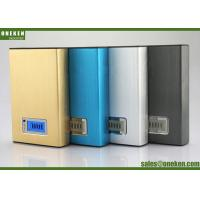 China 12000mah LCD External LCD Display Power Bank Blue / Gold For Mobile Charging on sale