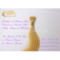 22 Inch Remy Human Hair Extensions 1.0 G Pre Bonded I Tip Hair Extensions For Sale Manufactures