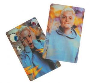 Popular cartoon advertising 3D lenticular flip card print-PET PP material 3D lenticular business card with dynamic image Manufactures