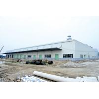 Quality Pre - Fabricated Garage Steel Frame With Colored Steel Sheet- Big Workshops for sale