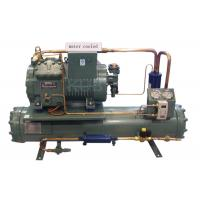 4DES-5Y Water Cooling Unit , Semi Enclosed Compressor Water Condensing Unit 5HP Long Lifespan Manufactures