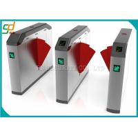 Bridge Type Turnstile Entry Systems CE Approved / Glass Wing Fast Speed Turnstile Manufactures