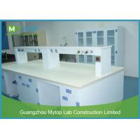 PP Material Science Lab Desks Fireproof / Chemistry Lab Furniture Stain Resistant Manufactures