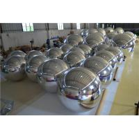 Giant Inflatable Mirror Ball , Silver Reflective Ball Mirror Fabric For Club Decoration Manufactures
