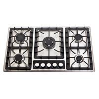201 Stainless Steel 5 Burner Gas Cooktop With Enamel Cap / Metal Knob Manufactures
