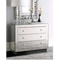 UK Style Bedroom Mirrored Chest Dresser Table With Venetian Wall Mirror Manufactures