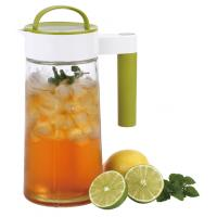 Eco-friendly 1400ml handled glass pitcher with different colors, for cold water/juicer,for home Manufactures