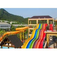 Rainbow Water Slides Adult Swimming Pool Water Slide Equipment For Holiday Resort Manufactures