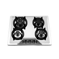 304 Level Stainless Steel 4 Burner Gas Hob With Wok Burner Safety Device Manufactures